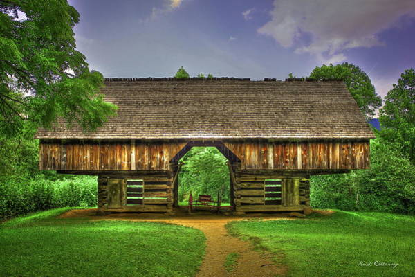 Photograph - Cades Cove's Cantilever Barn by Reid Callaway