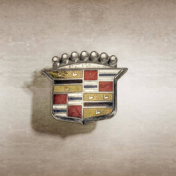 Wall Art - Photograph - Cadillac Badge by YoPedro