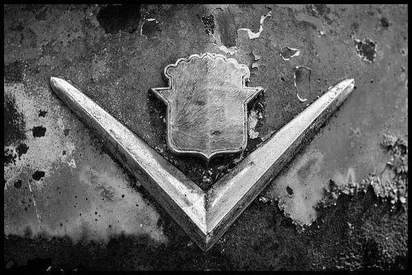 Photograph - Cadillac Emblem On Rusted Hood by Matthew Pace