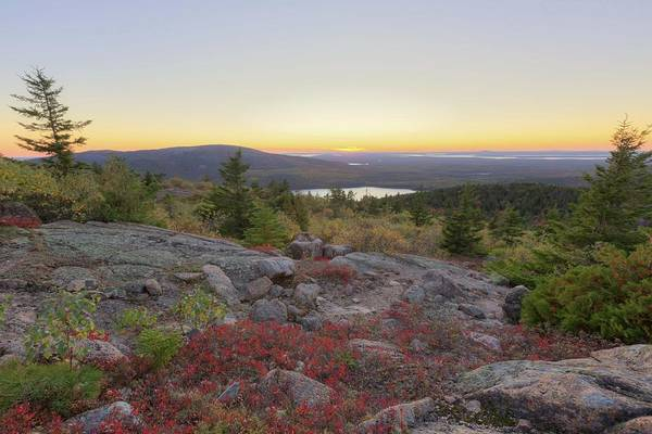 Photograph - Cadillac Mountain Sunset 1 by Paul Schultz