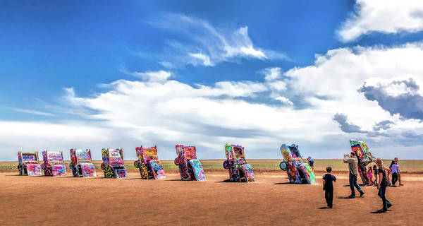 Roadside Attraction Wall Art - Painting - Route 66 Cadillac Ranch by Christopher Arndt