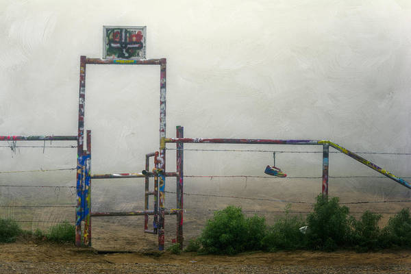 Roadside Attraction Wall Art - Photograph - Cadillac Ranch Entry by Joan Carroll