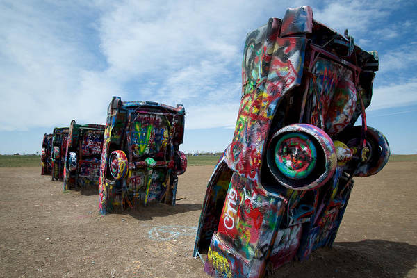 Photograph - Cadillac Ranch In Amarillo Texas by Mary Lee Dereske