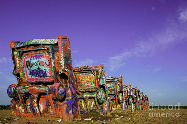 Green Car Photograph - Cadillac Ranch by DiFigiano Photography