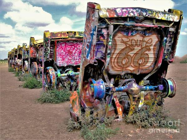 Wall Art - Photograph - Cadillac Ranch by Suzanne Wilkinson