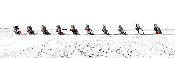 Photograph - Cadillac Ranch Whiteout 001 by Lance Vaughn