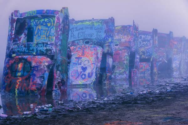 Photograph - Cadillacs In The Mist by Joan Carroll