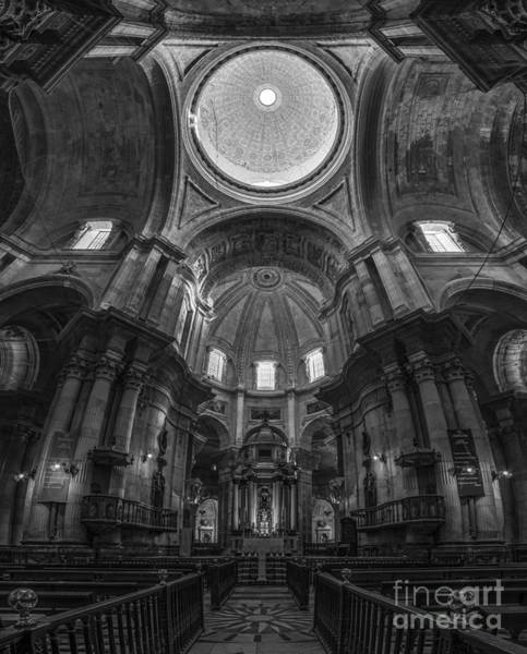 Photograph - Cadiz Cathedral Black And White Cadiz Spain by Pablo Avanzini