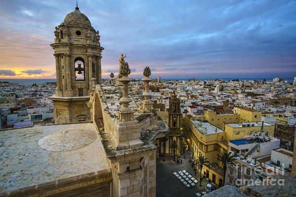 Photograph - Cadiz Cathedral View From Levante Tower Cadiz Spain by Pablo Avanzini