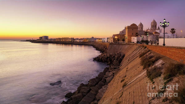 Photograph - Cadiz Panorama At Dusk Andalusia Spain by Pablo Avanzini