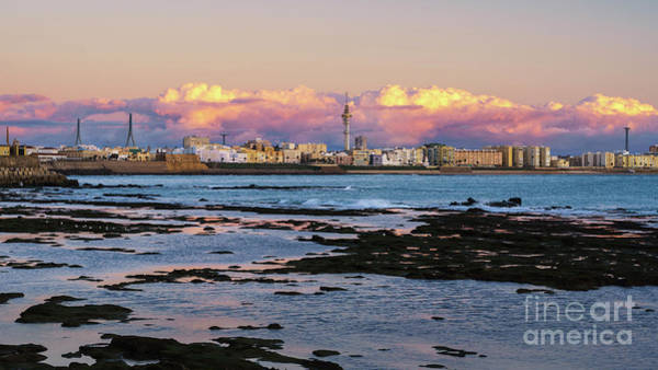 Photograph - Cadiz Skyline Under Cumulus Clouds Andalusia Spain by Pablo Avanzini