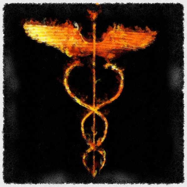 Fortification Wall Art - Painting - Caduceus by Pierre Blanchard