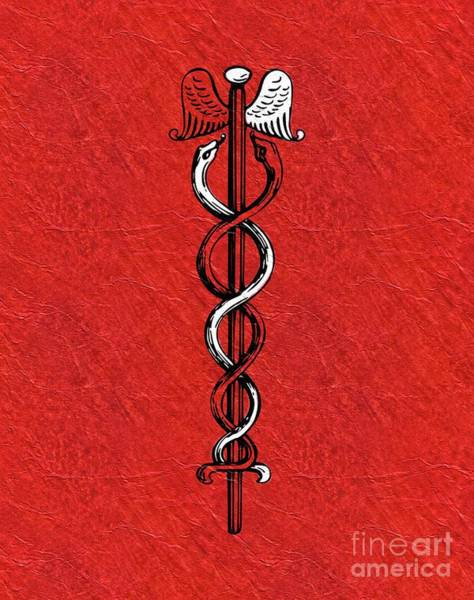 Entwine Wall Art - Painting - Caduceus - Symbols Of The Occult by Pierre Blanchard