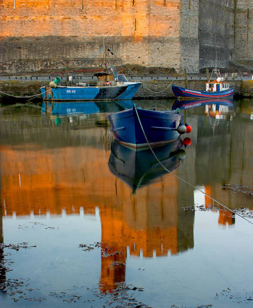 Photograph - Caernarfon Reflections by Peter OReilly