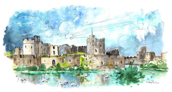 Painting - Caerphilly 02 by Miki De Goodaboom