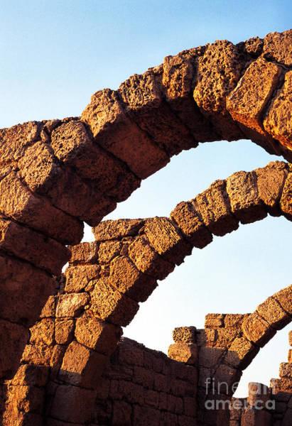 Photograph - Caesarea Arches  by Thomas R Fletcher
