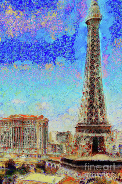 Photograph - Caesars Palace Casino From The Paris Casino On The Las Vegas Strip Las Vegas Nevada 20180518 by Wingsdomain Art and Photography