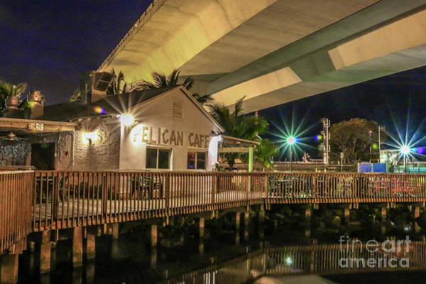 Photograph - Cafe And Bridge by Tom Claud