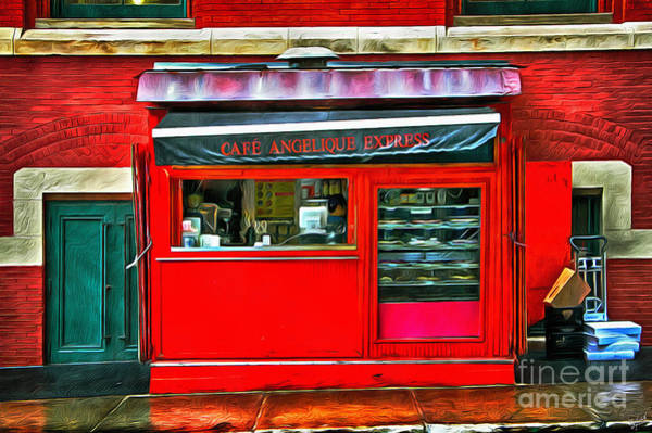 Cantina Photograph - Cafe Angelique Storefront by Nishanth Gopinathan