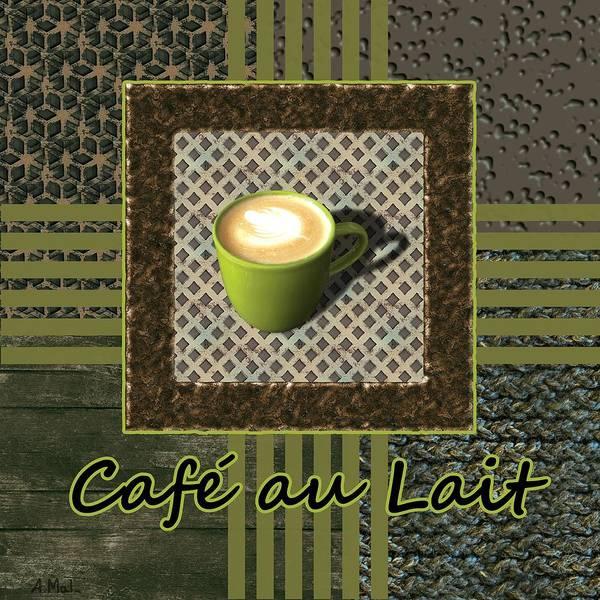 Photograph - Cafe Au Lait - Coffee Art - Green by Anastasiya Malakhova
