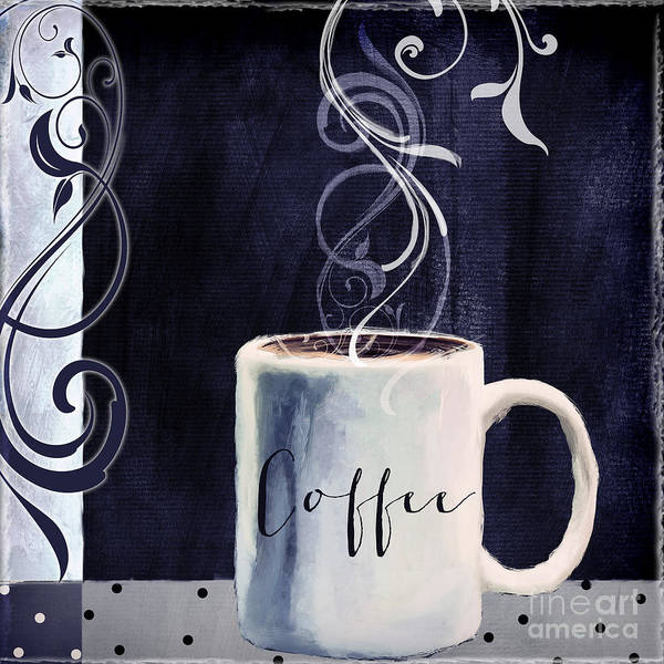 Mocha Painting - Cafe Blue I by Mindy Sommers