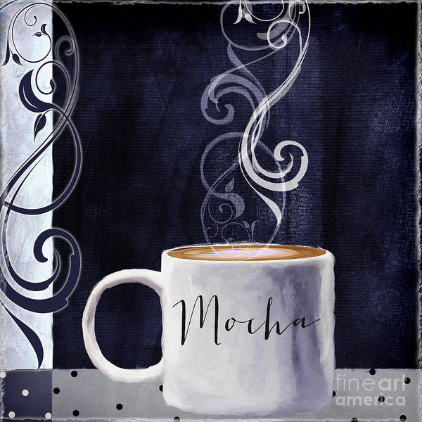 Mocha Painting - Cafe Blue IIi by Mindy Sommers