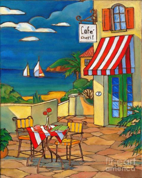 Deck Painting - Cafe Cheri by Paul Brent