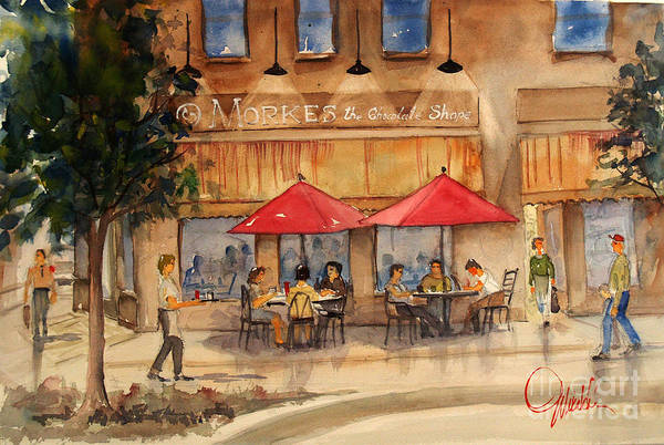 Painting - Cafe Chocolate by Gerald Miraldi