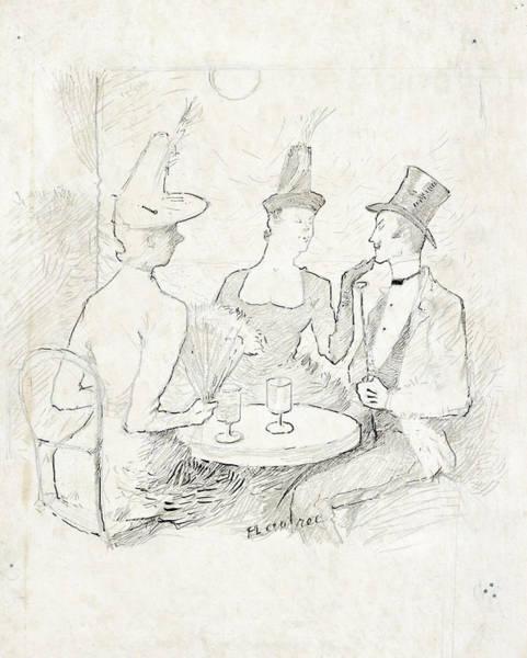 Wall Art - Drawing - Cafe-concert A Montmarte by Henri de Toulouse-Lautrec