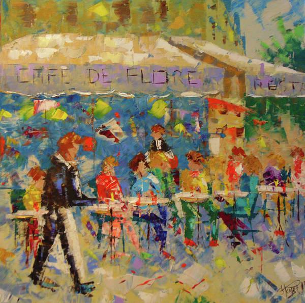 Painting - Cafe De Flora Paris by Frederic Payet