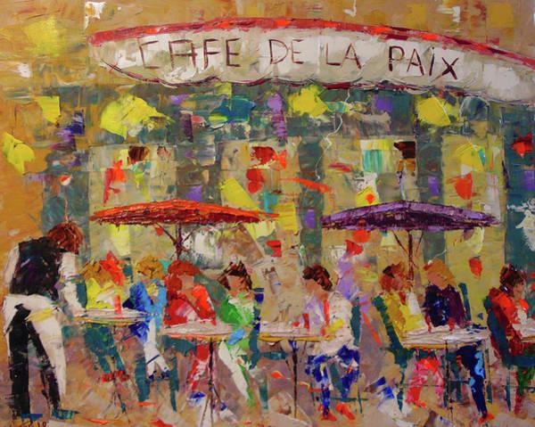 Painting - Cafe De La Paix Paris by Frederic Payet