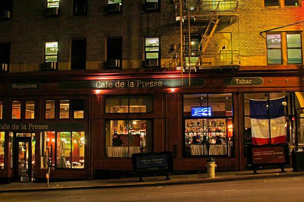 Photograph - Cafe De La Presse On Bush St by Bonnie Follett
