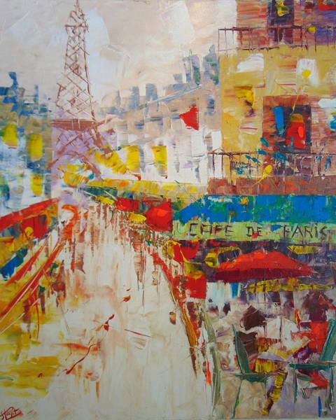 Painting - Cafe De La Tour Eiffel by Frederic Payet