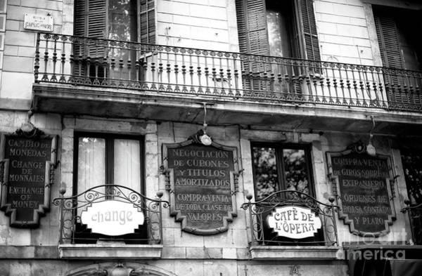 Photograph - Cafe De L'opera In Barcelona by John Rizzuto