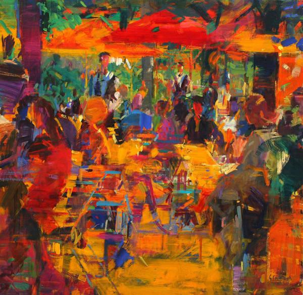 Parisian Cafe Painting - Cafe De Paris by Peter Graham