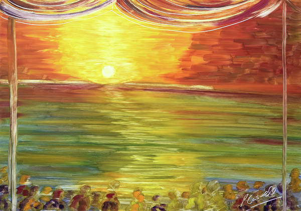 Painting - Cafe Del Mar Sunset by Pete Caswell