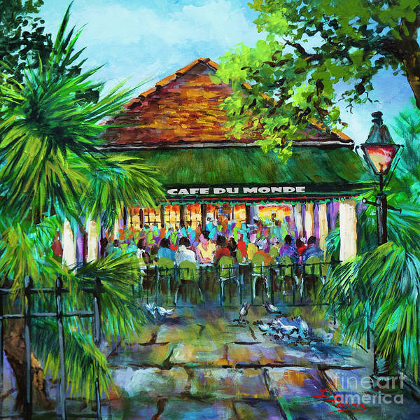 Wall Art - Painting - Cafe Du Monde Morning by Dianne Parks