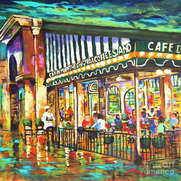 Painting - Cafe Du Monde Night by Dianne Parks