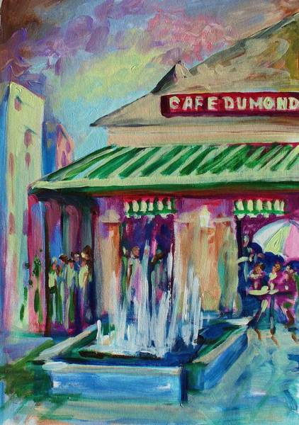 Wall Art - Painting - Cafe Du Monde by Saundra Bolen Samuel