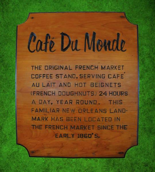 Wall Art - Photograph - Cafe Du Monde Sign  by Art Spectrum
