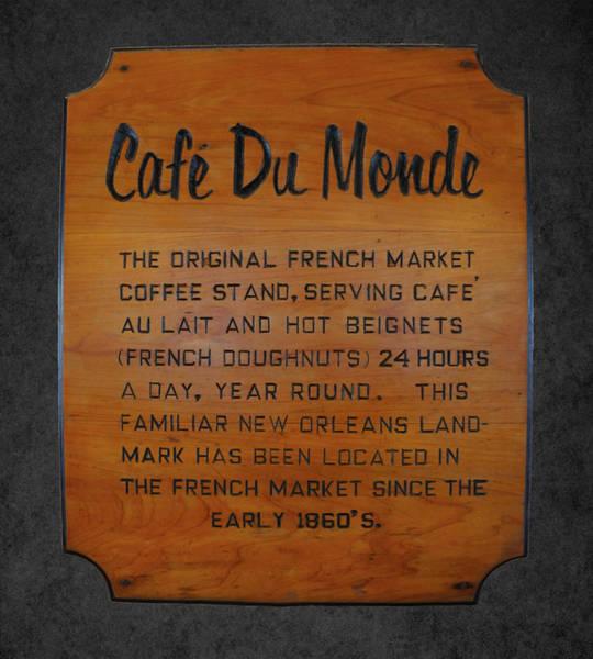 Wall Art - Photograph - Cafe Du Monde Sign I by Art Spectrum