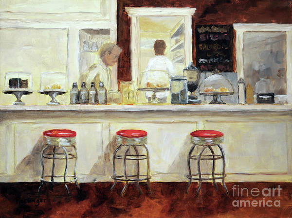 11x14 Painting - Cafe Galleria by Cindy Roesinger