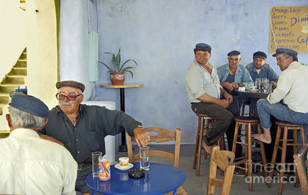 Wall Art - Photograph - Cafe In Greece by Madeline Ellis
