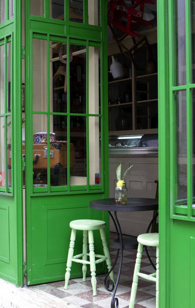 Photograph - Cafe In Green by Lorraine Devon Wilke