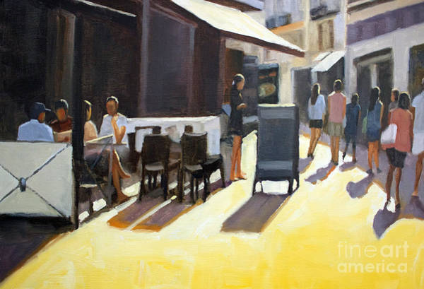Wall Art - Painting - Cafe In Nice by Tate Hamilton