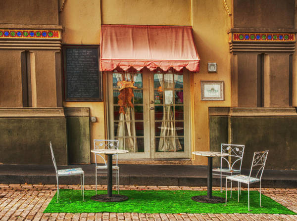 Photograph - Cafe In Old San Juan by Mick Burkey