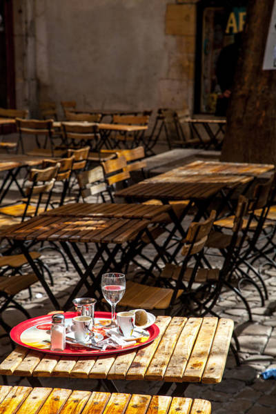 Wall Art - Photograph - Cafe In Vieux Lyon by W Chris Fooshee