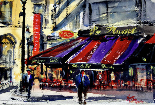 Wall Art - Painting - Cafe Le Musset, Paris by James Nyika