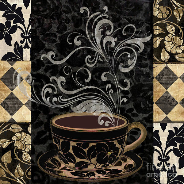 Wall Art - Painting - Cafe Noir I by Mindy Sommers