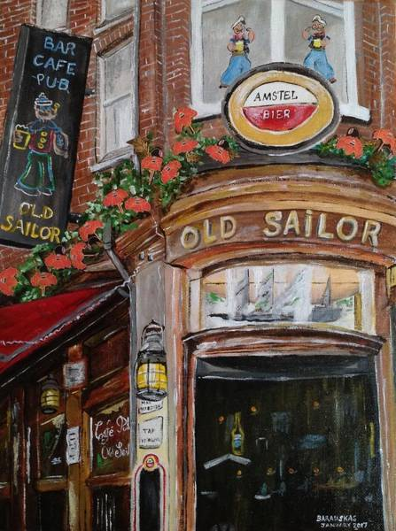 Bier Painting - Cafe Old Sailor by Andrea Barauskas